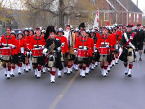 King's-Edgehill School's Parade in Windsor, Nova Scotia